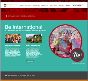 SDSU Home Page Holi Photo
